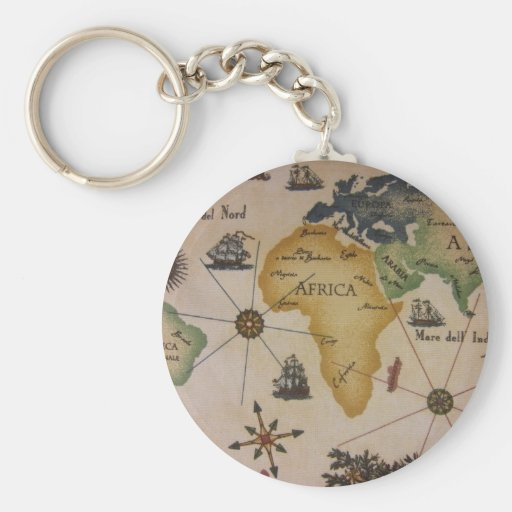 World Map - Africa Key Chain
