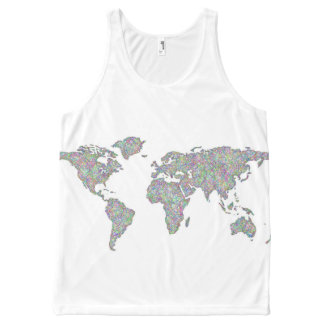 World map All-Over print singlet