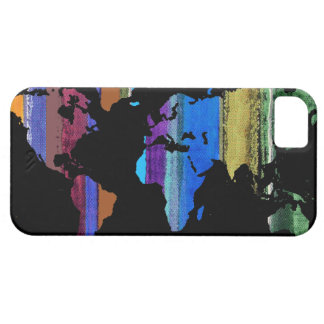 world map and color stripes case for the iPhone 5