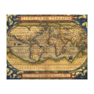 World Map Antique Ortelius Europe Canvas Print