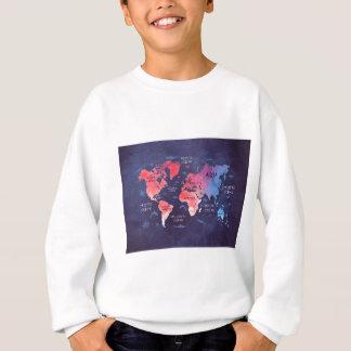 world map art sweatshirt