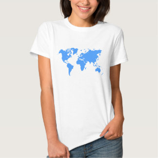 World Map - Baby Blue Tees