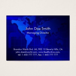 World Map Background Business Card