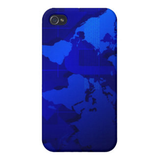 World Map Background iPhone 4 Covers
