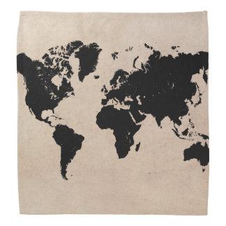 world map bandana
