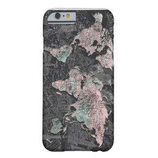 world map barely there iPhone 6 case