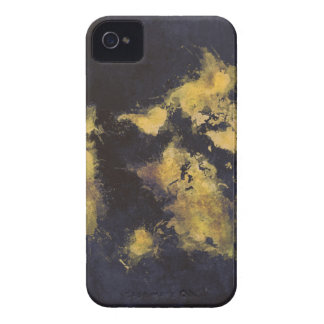 world map black yellow Case-Mate iPhone 4 case