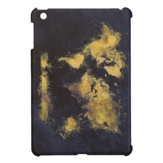 world map black yellow cover for the iPad mini
