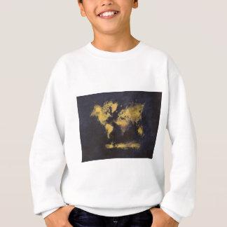 world map black yellow sweatshirt