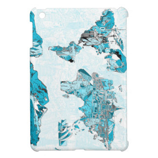 world map blue 2 iPad mini case