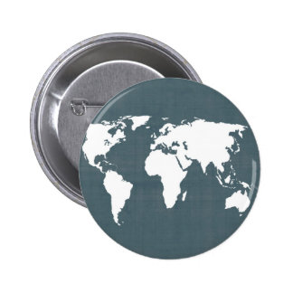 World Map . blue and white Buttons