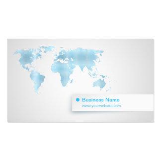 World Map blue business card