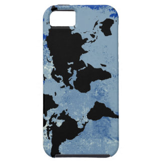 world map blue texture iPhone 5 cases