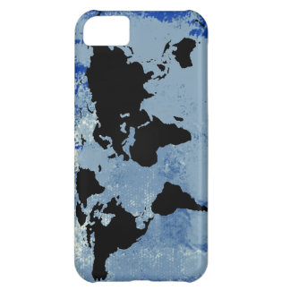 world map blue texture iPhone 5C case