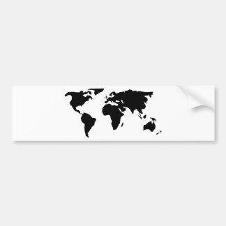 World Map Bumper Sticker