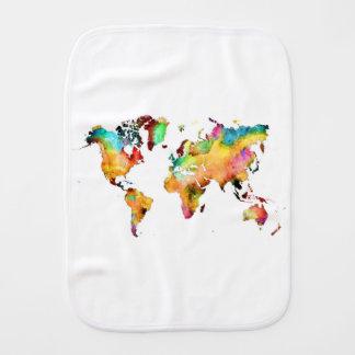 world map burp cloth