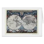 World Map by Joan Blaeu - 1664 Greeting Card