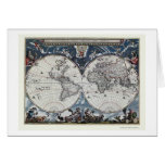 World Map by Joan Blaeu - 1664 Greeting Cards