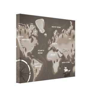 World Map Canvas Prints