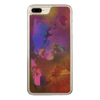 world map carved iPhone 8 plus/7 plus case