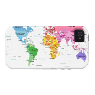 World Map Case-Mate iPhone 4 Cover