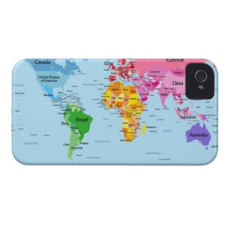 World Map iPhone 4 Case