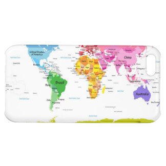 World Map Case For iPhone 5C