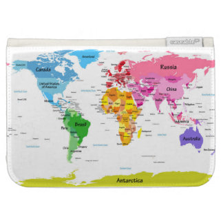 World Map Case For Kindle