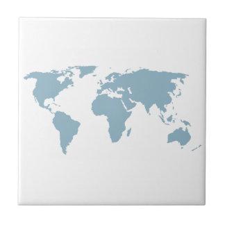World Map Ceramic Tile
