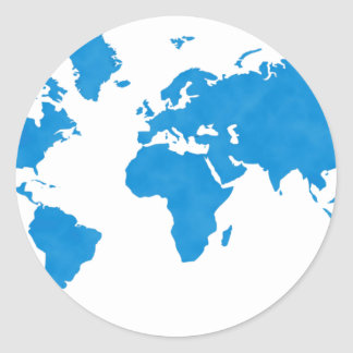 World Map Classic Round Sticker