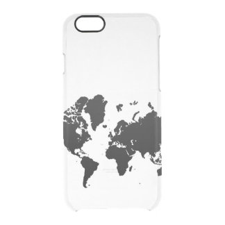 World Map Clear iPhone 6/6S Case