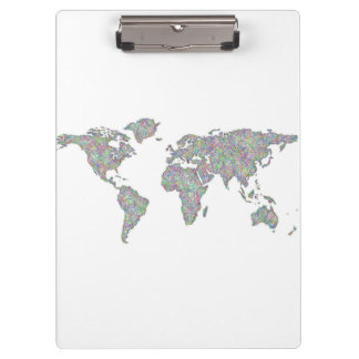 World map clipboard