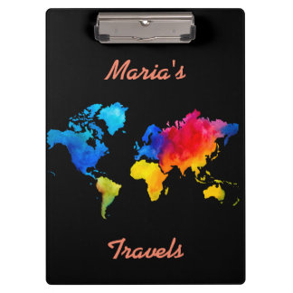World Map. Clipboard