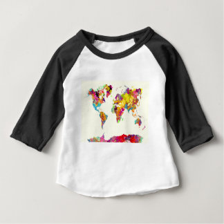 world map colours baby T-Shirt