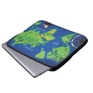 World Map Computer Sleeves