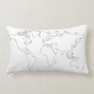 World Map Cotton Pillow