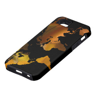 world map design iPhone 5 covers