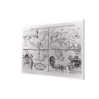 World Map detailing the Expeditions Gallery Wrap Canvas