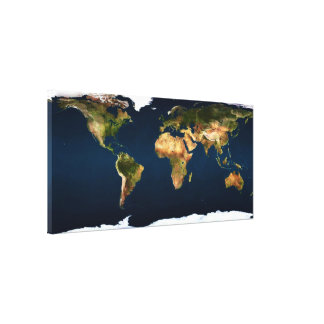 World map earth colors by healinglove canvas prints
