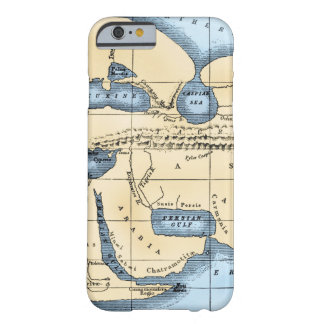WORLD MAP: ERATOSTHENES BARELY THERE iPhone 6 CASE