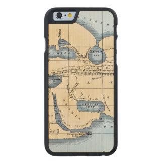 WORLD MAP: ERATOSTHENES CARVED® MAPLE iPhone 6 CASE