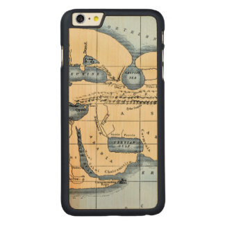 WORLD MAP: ERATOSTHENES CARVED® MAPLE iPhone 6 PLUS CASE