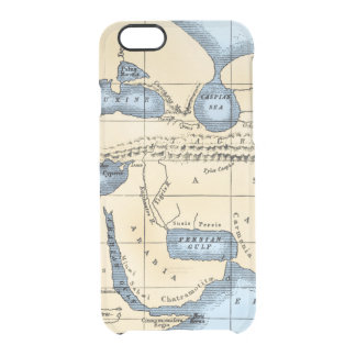WORLD MAP: ERATOSTHENES CLEAR iPhone 6/6S CASE