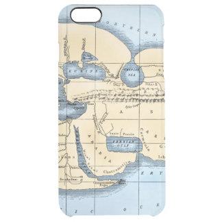 WORLD MAP: ERATOSTHENES CLEAR iPhone 6 PLUS CASE