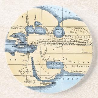WORLD MAP: ERATOSTHENES COASTERS