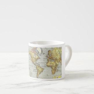 world map espresso cup