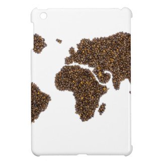 World map filled with coffee beans case for the iPad mini