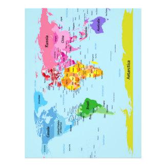 World Map Custom Flyer
