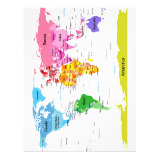 World Map Personalised Flyer