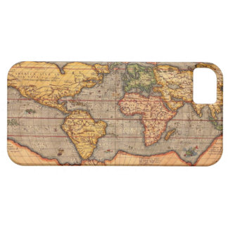 World map from 1601 barely there iPhone 5 case